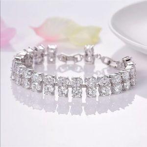 18k GF double tennis bracelet